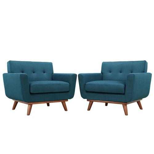 Engage Armchair Wood Set of 2 in Azure