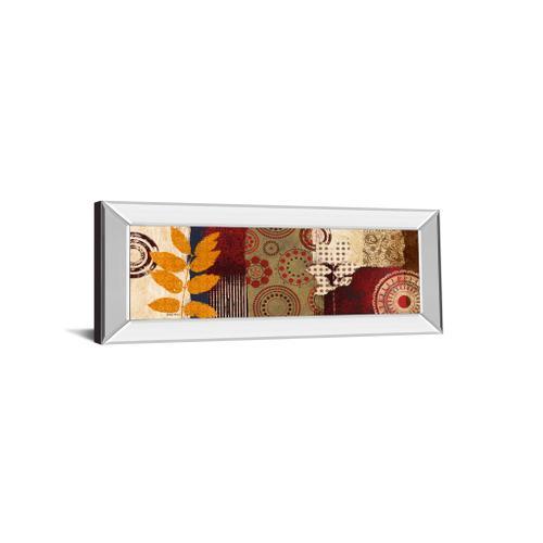 "Classy Art - ""Fall Leaf Panel Il"" By Michael Marcon Mirror Framed Print Wall Art"