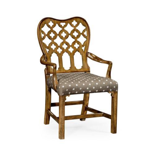 Kingsley Grey Fruitwood Arm Chair