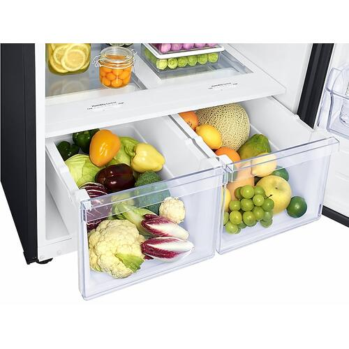 18 cu. ft. Top Freezer Refrigerator with FlexZone™ and Ice Maker in Black Stainless Steel