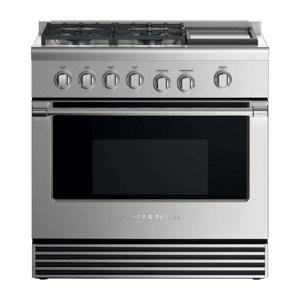 """FISHER & PAYKELGas Range, 36"""", 4 Burners with Griddle, LPG"""