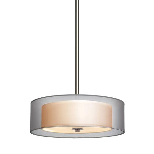 "Sonneman - A Way of Light - Puri Pendant [Size=16"", Color/Finish=Satin Nickel w/Silver Shade]"