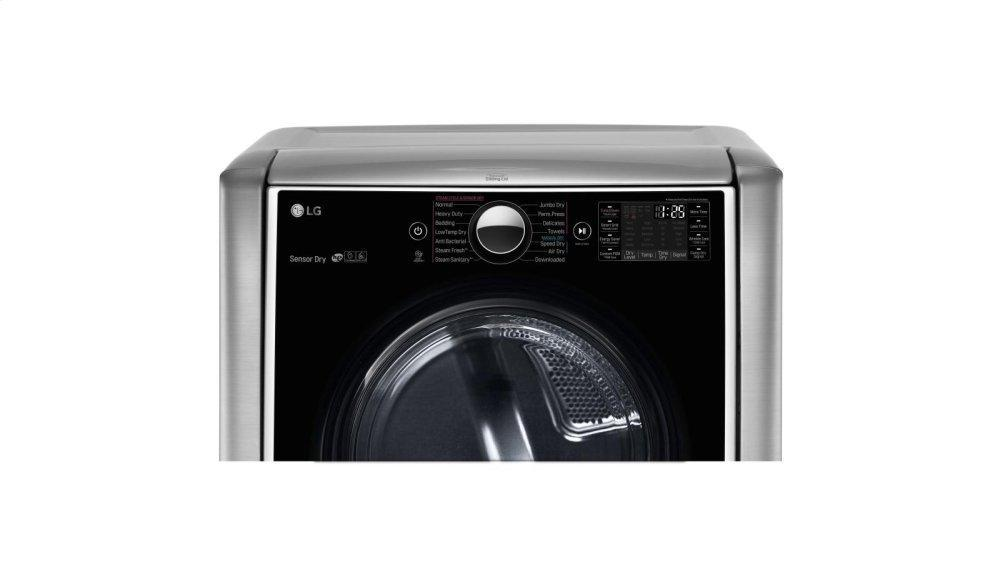 9.0 cu. ft. Large Smart wi-fi Enabled Electric Dryer w/ TurboSteam™ Photo #4