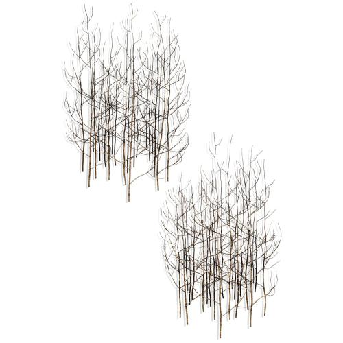 Style Craft - BJ Keith Metal Wall Sculpture  Set of Two