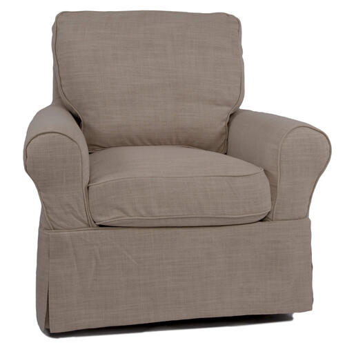 Sunset Trading - Horizon Slipcovered Swivel Rocking Chair - Color 466082