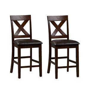 Liberty Furniture Industries - X Back Counter Chair- Pack of 2