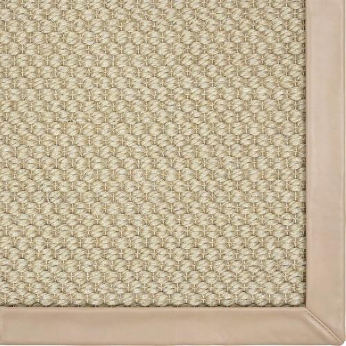 Karastan - Double Weave Jute Moonstruck 12'x15' / Leather Border