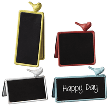 See Details - Double Sided Chalkboard Sign with Bird (4 asstd)