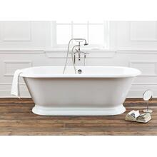 SANDRINGHAM Cast Iron Bathtub With Flat Area for Faucet Holes