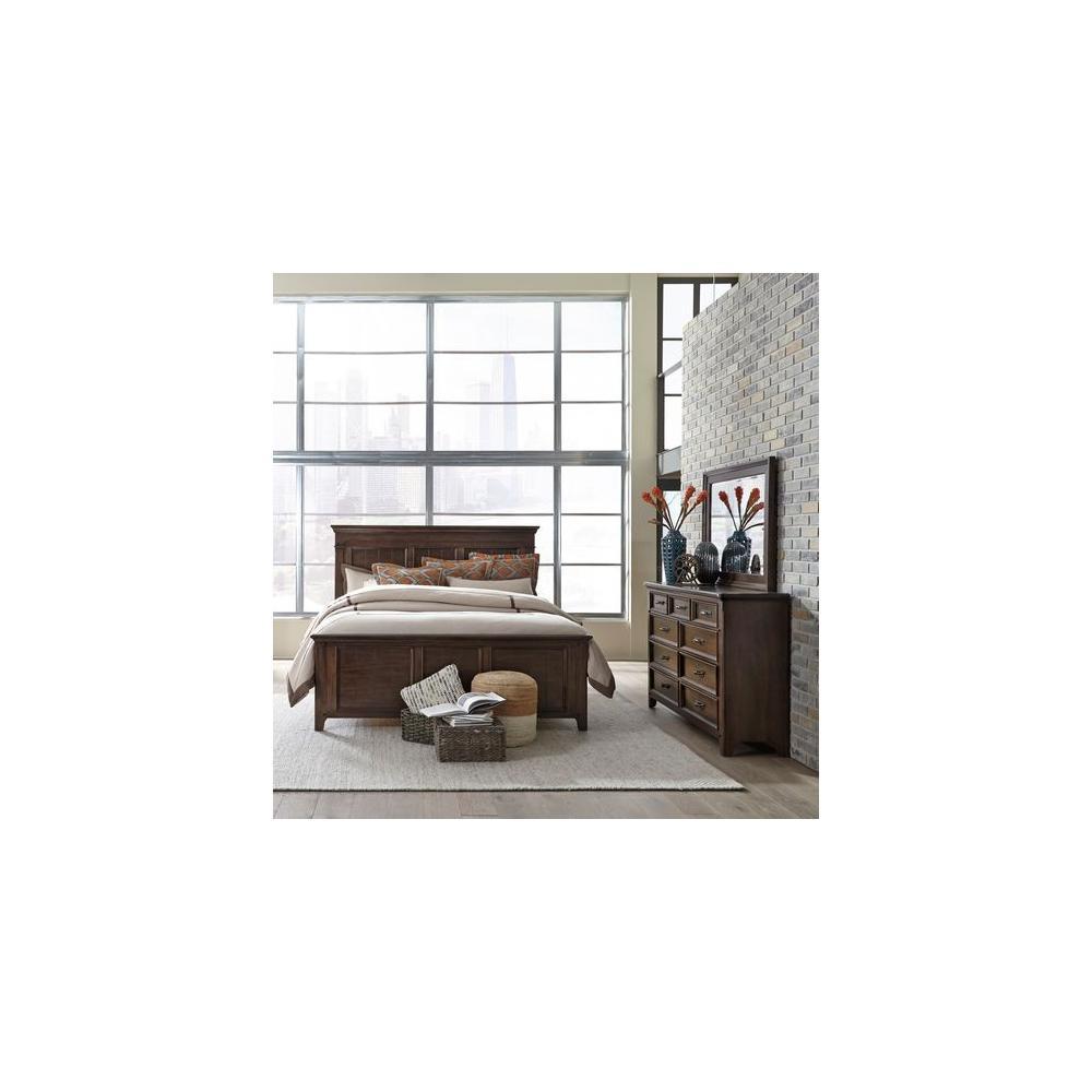 See Details - King Panel Bed, Dresser & Mirror