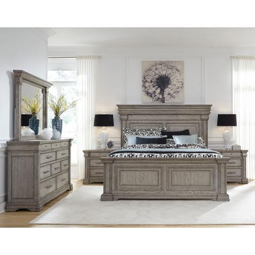 Pulaski Furniture - Madison Ridge King / California King Panel Footboard and Slats in Heritage Taupe