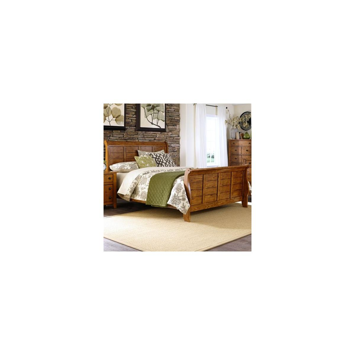 Queen Sleigh Headboard & Footboard (RTA)
