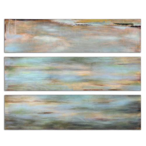Horizon View Hand Painted Canvases, S/3