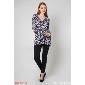 Unchained Ball and Chain Print Top - S/M (4 pc. ppk.)