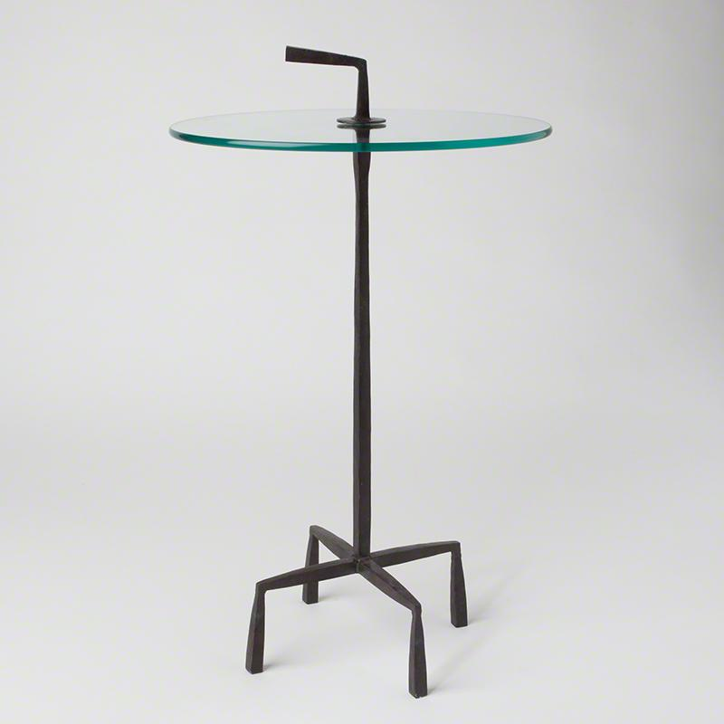 Quad Pod Accent Table-Natural Iron