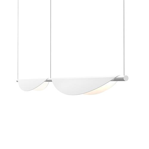 Sonneman - A Way of Light - Tela LED Pendant [Size=Double Pendant, Color/Finish=Satin White]