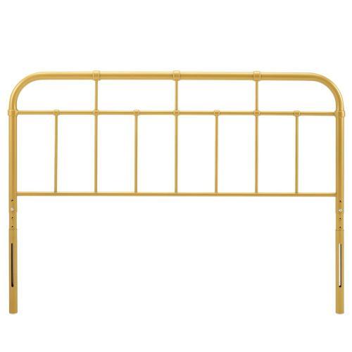 Modway - Alessia King Metal Headboard in Gold