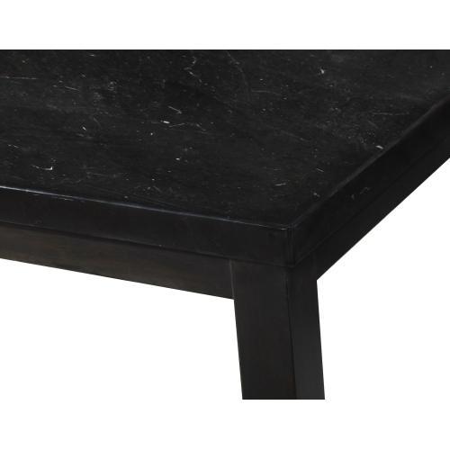 Markina 7 Piece Rectangular Black Marble Top Counter Set(Counter Table & 6 Counter Chairs)