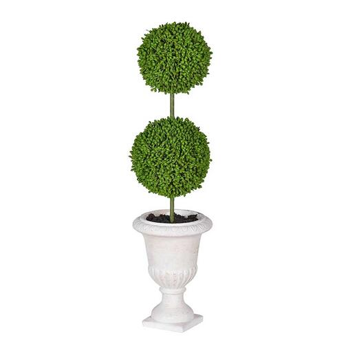 Two-Tier Round Faux Topiary