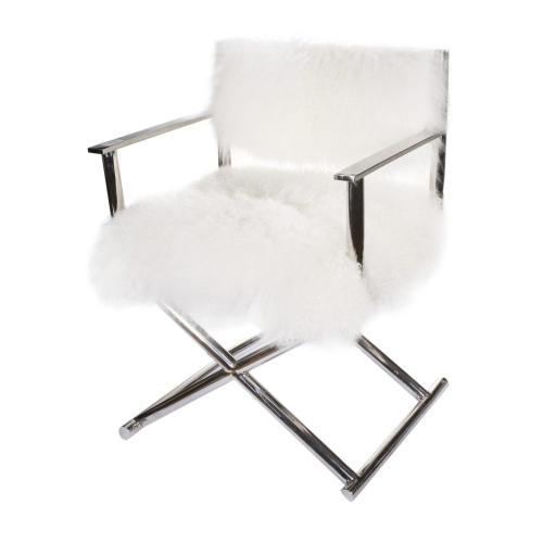 A & B Home - Mongolian Fur Director Chair