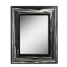 See Details - Framed Black & Natural Woodgrain Wall Mirror