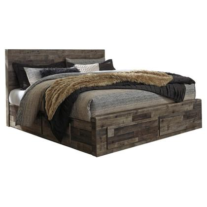 See Details - Derekson King Panel Bed With 4 Storage Drawers