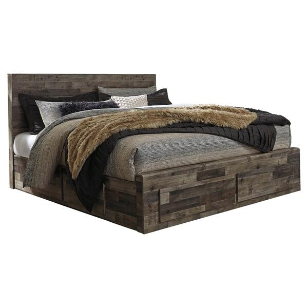Derekson King Panel Bed With 6 Storage Drawers