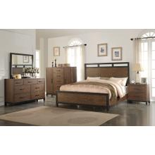 Emerald Home Perspective Panel Bed Kit King Coffee Bean B257-12-k