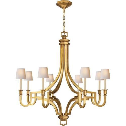 Visual Comfort CHC1562AB E. F. Chapman Mykonos 8 Light 37 inch Antique-Burnished Brass Chandelier Ceiling Light