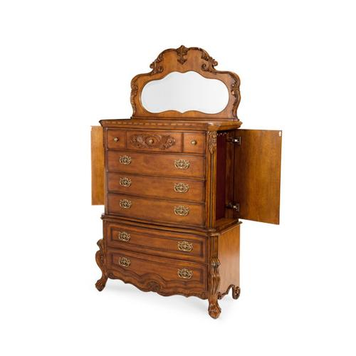 6 Drawer Chest and Mirror- (3pc)