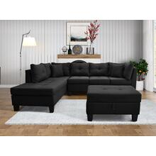 9126 Linen Sectional Sofa - LEFT