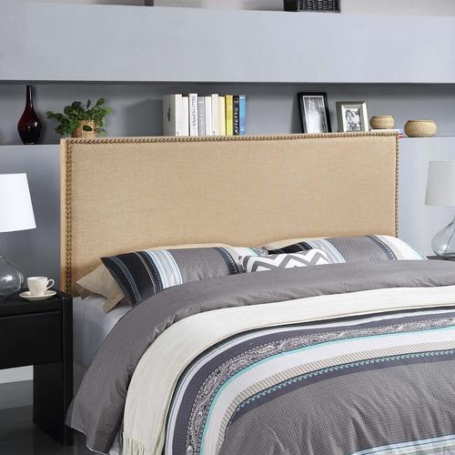 Modway - Region Nailhead Queen Upholstered Headboard in Cafe