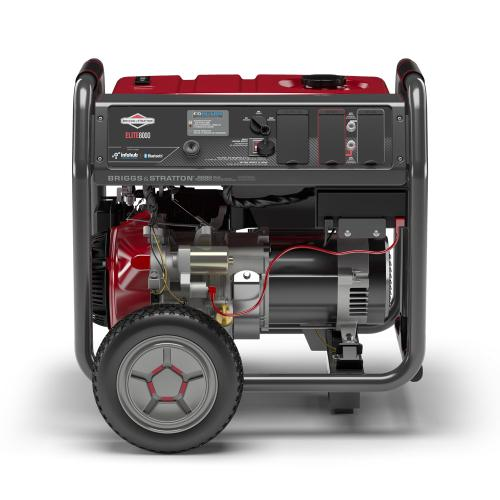 Briggs and Stratton - 8000 Watt Elite Series™ Portable Generator with Bluetooth and CO Guard ® - Bluetooth ® connectivity equipped with InfoHub™ portable power