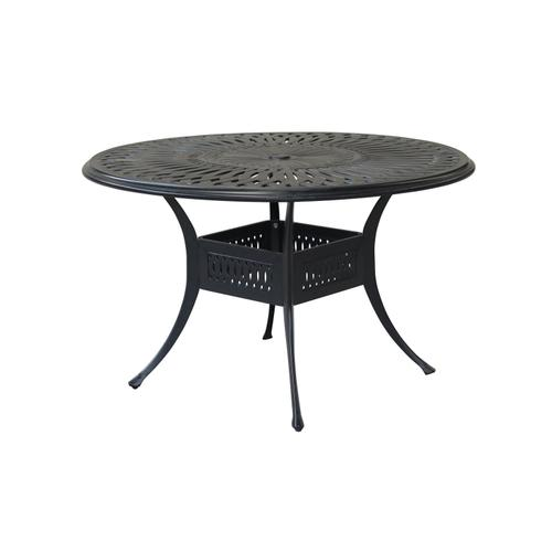 "Toscana 48"" Round Die Cast Dining Table w/umbrella hole"