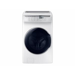 Samsung5.5 cu. ft. Smart Washer with FlexWash™ in Black Stainless Steel