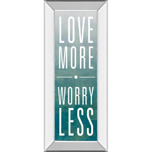 """Love"" By Sd Studios Mirror Framed Print Wall Art"