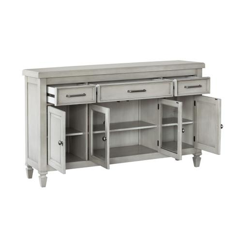 4 Door 3 Drawer Console-KD CTN 2/2 in Gray