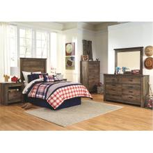 Twin Bed Set: Twin Bed, Nightstand, Dresser & Mirror