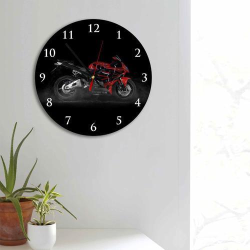 Grako Design - Red Honda Bike Round Square Acrylic Wall Clock