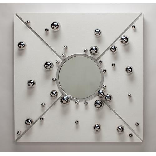 """Artmax - Wall D cor with mirror 47x7""""x47"""""""