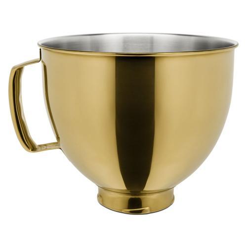 5 Quart Tilt-Head Metallic Finish Stainless Steel Bowl - Radiant Gold