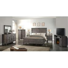 Queen Bedroom, Dresser, Mirror and Nightstand