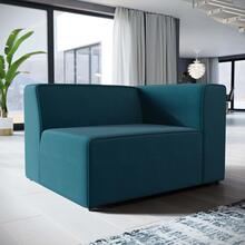 Mingle Fabric Right-Facing Sofa in Blue