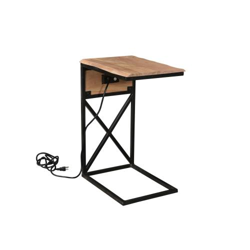 Bengal Manor Natural USB Power C Side Table