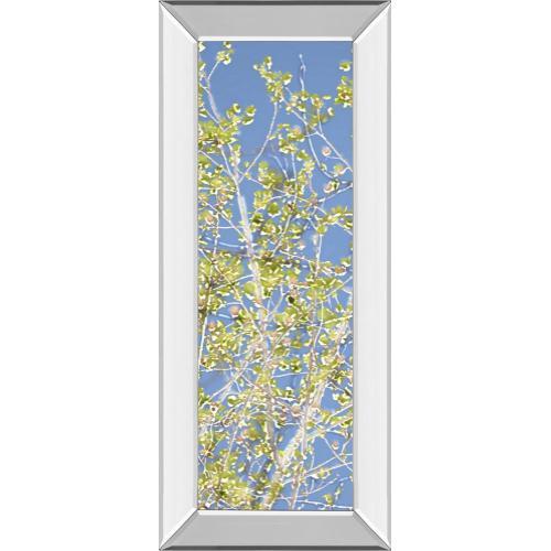 """Spring Poplars Il"" By Sharon Chandler Mirror Framed Print Wall Art"