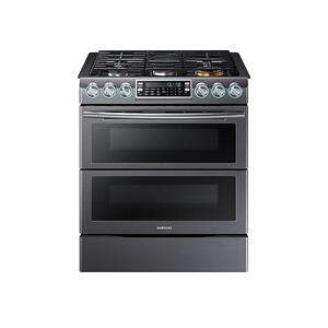 Samsung Appliances5.8 cu. ft. Slide-In Gas Range with Flex Duo™ & Dual Door in Black Stainless Steel