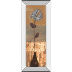 """Solitary Flower Il"" By Norman Wyatt Mirror Framed Print Wall Art"