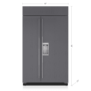 """Subzero48"""" Classic Side-by-Side Refrigerator/Freezer with Dispenser - Panel Ready"""
