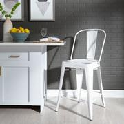 Bow Back Counter Chair - Antique White Product Image
