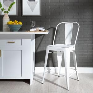 Liberty Furniture Industries - Bow Back Counter Chair - Antique White